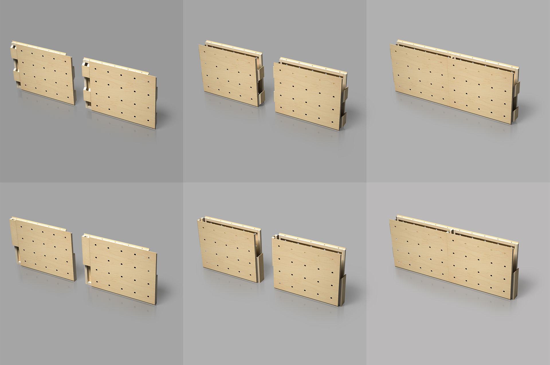 WallStack modular wall system principle