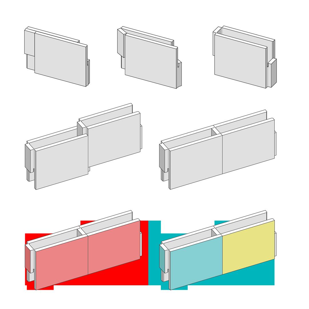 WallStack Modular Partition Wall System principle